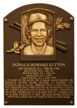 Don Sutton Plaque