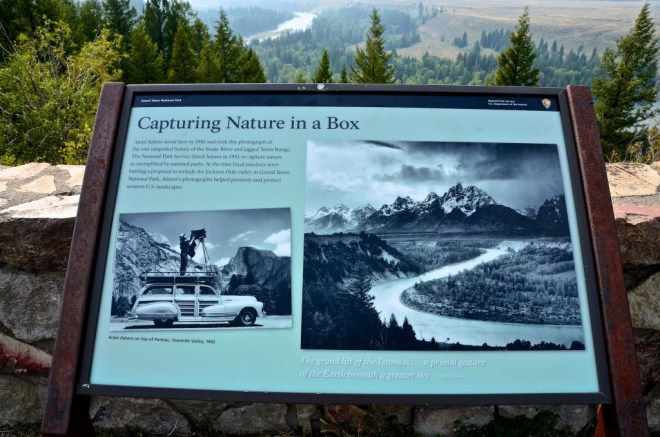 Ansel Adams Sign Grand Teton National Park, August 22, 2015