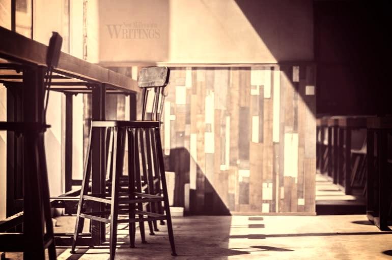 An empty bar stool
