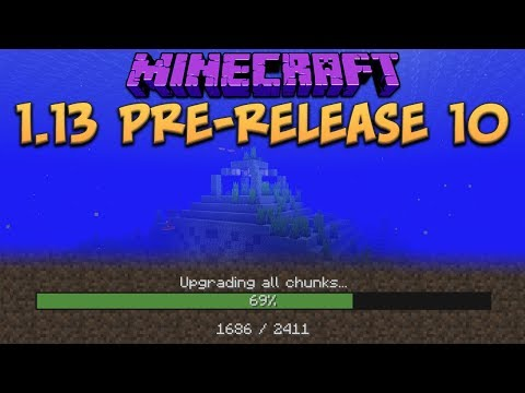 minecraft 1 13 update pre release 10 new optimize world feature mob farms fixed minecraft videos