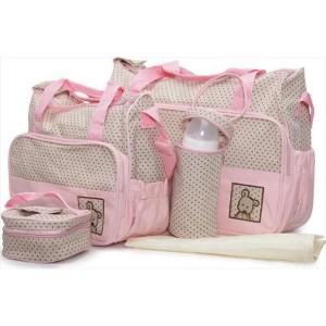 Τσάντα Αλλαξιέρα Cangaroo Stella Pink Σετ 5τμχ