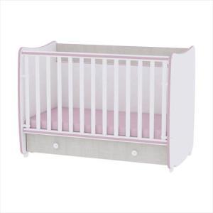 Κρεβάτι Μετατρεπόμενο Dream White & Pink Crossline 60/120 Lorelli Bertoni (ΔΩΡΟ Κουβέρτα Αγκαλιάς)