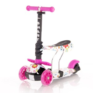 Lorelli Bertoni Smart Scooter Pink Flowers