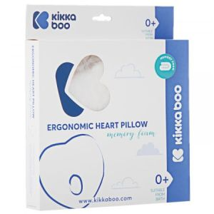 Μαξιλάρι Memory Foam Ergonomic Pillow Kikkaboo Heart Beige Velvet