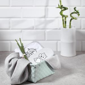 Πετσέτα από Μπαμπού με κουκούλα Γκρι 100×100 BabyOno