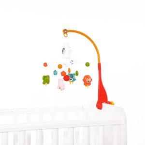 Μουσικό Περιστρεφόμενο Lorelli Bertoni Happy Animals Orange