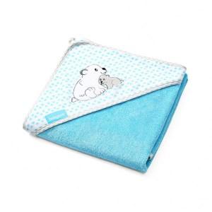 Πετσέτα από Μπαμπού με κουκούλα Μπλε 100×100 BabyOno
