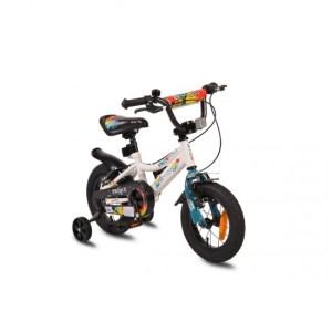 """Παιδικό Ποδήλατο 12"""" Prince White New Byox"""