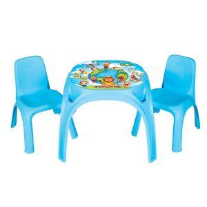 Παιδικό Τραπεζάκι Με 2 Καρέκλες King Study Table 03422 Blue Pilsan