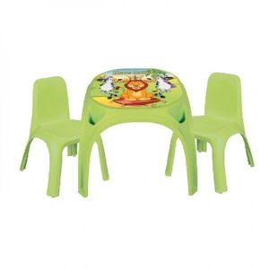 Παιδικό Τραπεζάκι Με 2 Καρέκλες King Study Table 03422 Green Pilsan