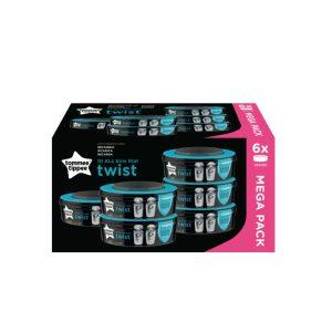Ανταλλακτικές Κασέτες με Σακούλες Κάδου Απόρριψης Twist & Click  6 τμχ Tommee Tippee