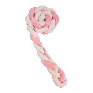 Πάντα Πλεκτή 180×12 εκ.  Με 3 Πλεξούδες Pink Kikkaboo