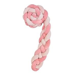Πάντα Πλεκτή 180×15 εκ. Με 4 Πλεξούδες Pink Kikkaboo