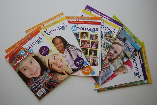 12 copies new moon girls magazine