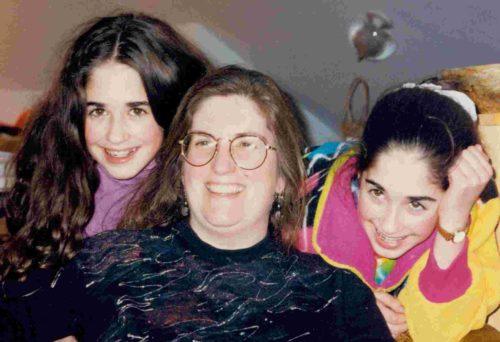 Mavis, Nancy & Nia in the attic, 1992