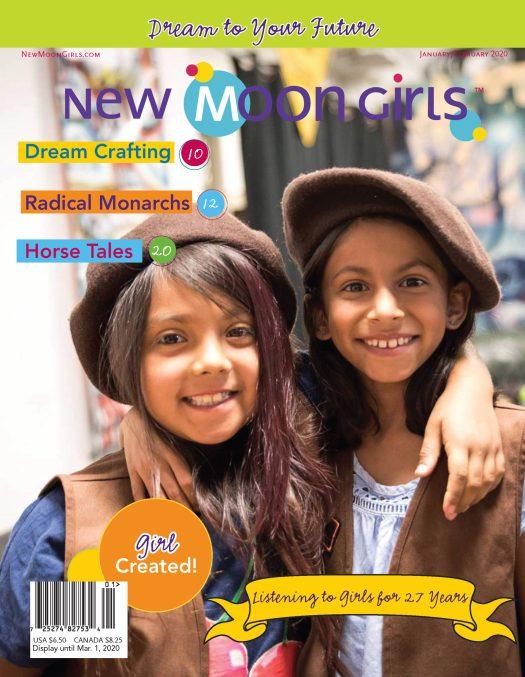 cover of Jan-Feb New Moon Girls magazine