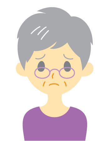 stressed older woman illustration