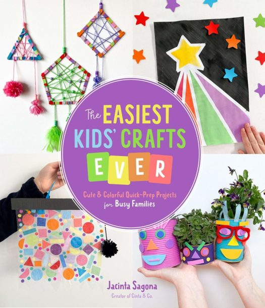 Book cover image for The Easiest Kids Crafts Ever by Jacinta Sagona