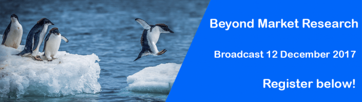 Beyond Market Research event webpage banner Register now