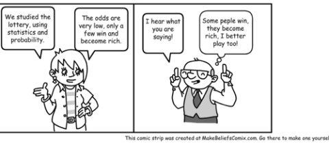 Lottery Cartoon