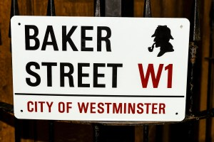 Baker Street road sign