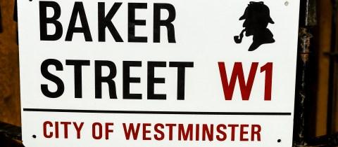 Baker Street road sign