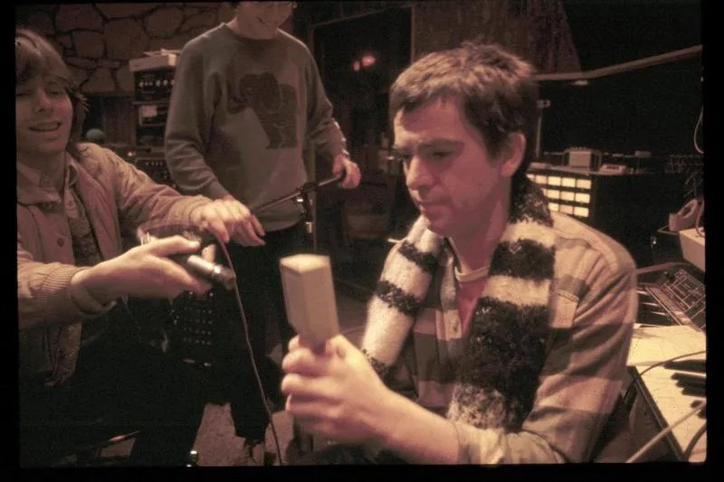 Larry Fast - Photo during the recording of Peter Gabriel 3, autumn 1979, Townhouse Studio B, London