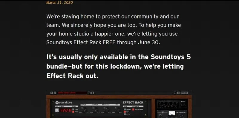 Soundtoys Effect Rack promo