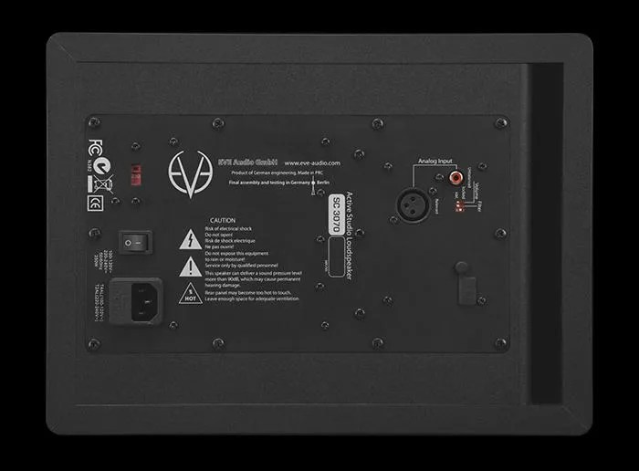 EVE Audio SC3070 - back panel