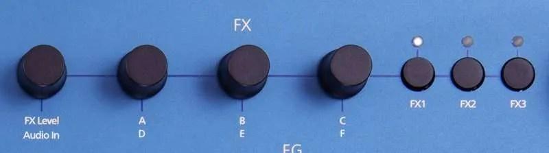 Modal Cobalt8 I comandi degli effetti