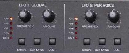 Sequential Take 5 - Gli LFO