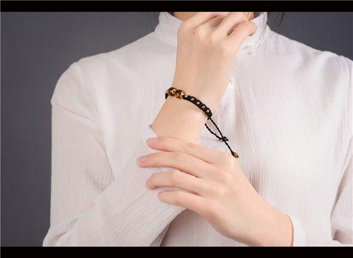 bracelet tressé oeil de tigre