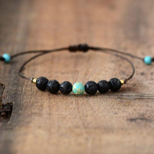 Simple-Bracelets-Fashion-Natural-Stones-Lava-Stone-Adjustable-Bracelet-Handmade-Beaded-Boho-Bracelets-Dropship-Jewelry