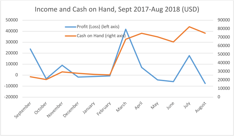 Income and Cash on Hand, 2018 - New Naratif