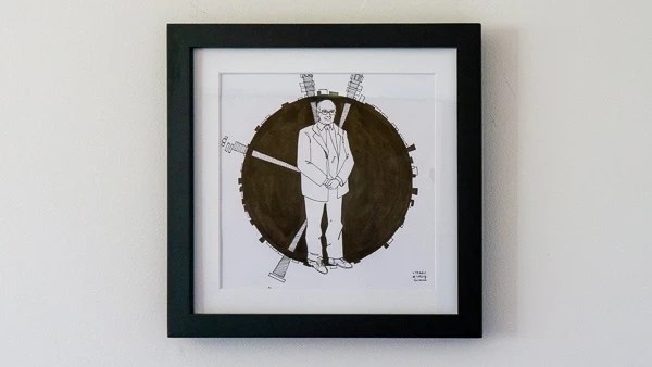 Peter Higgs Original Artwork - Black Frame