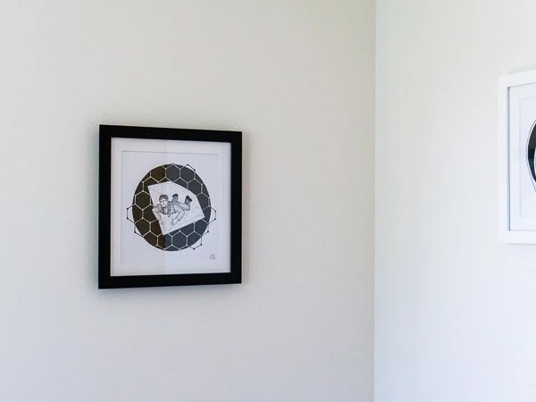 Andre Geim Original Artwork - Black Frame