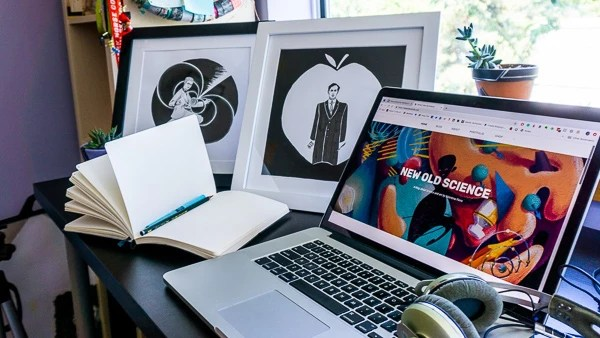 Original Artworks with Frame on desk