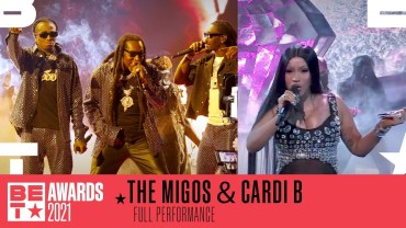 Cardi B Joins Migos For A Turnt Up Performance of 'Straightenin' & 'Type Sh*t'   BET Awards