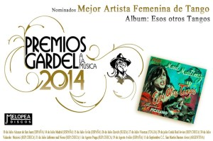 Mariel Martinez nominated for a Gardel Award.