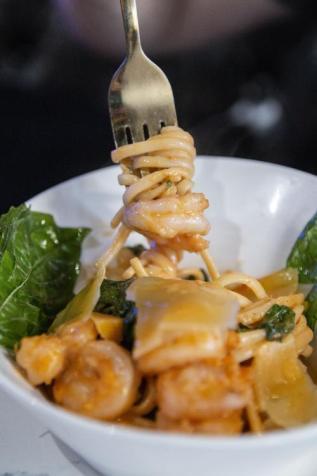 Spicy Gulf Shrimp Pasta, The Tasting Room