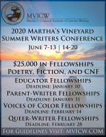 Martha's Vineyard Institute for Creative Writing January 2020 eLitPak Flier