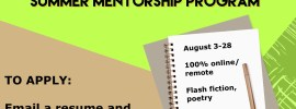 The Daphne Review 2020 Summer Mentorship banner