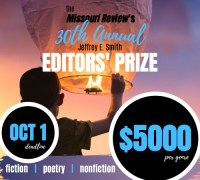 Missouri Review banner ad for the 2020 Editors' Prize