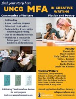 UNCG MFA in Creative Writing August 2020 eLitPak flier