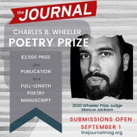 The Journal 2020 Charles B. Wheeler Poetry Prize banner