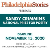 Philadelphia Stories 2020 Sandy Crimmins National Prize for Poetry banner