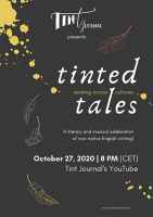 tinted tales reading event poster