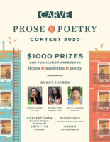 Carve Prose & Poetry Contest 2020 Extended Deadline