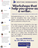 Screenshot of WritingWorkshops.com February 2021 eLitPak Flier