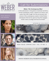 Screen shot of Weber: The Contemporary West May 2021 NewPages eLitPak Flier